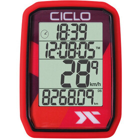 Ciclosport Protos 205 Fietscomputer, red
